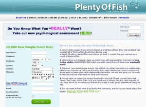plenty-of-fish homepage