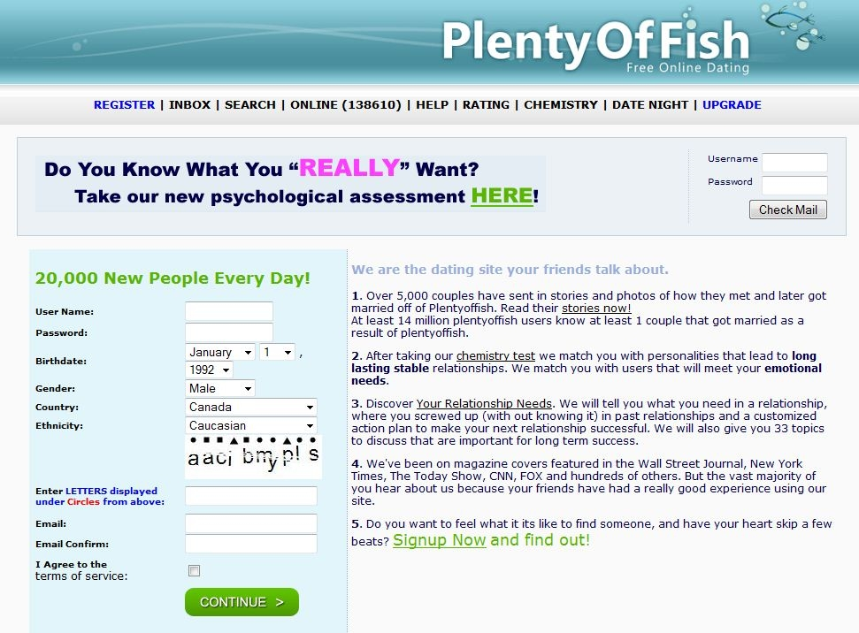 is plenty of fish the only free dating site