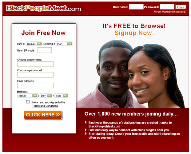 black people meet login